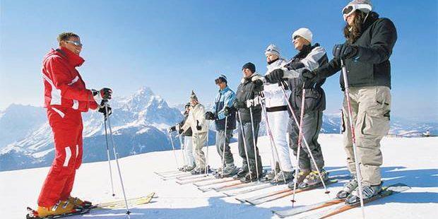 Website ter promotie van skilessen