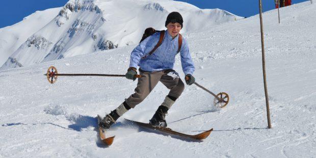 Skischool Zwitserland geeft nostalgie-skilessen