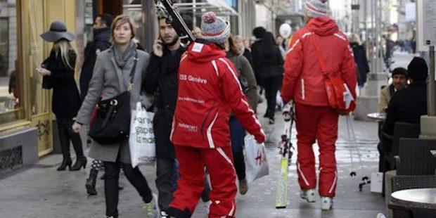 Skileraren optocht in Genève
