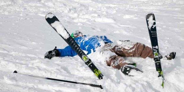 Leren skiën voorkomt de angst voor vallen