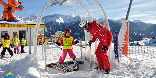 In Fiss-Ladis leren kinderen de pflug met de Snow-V