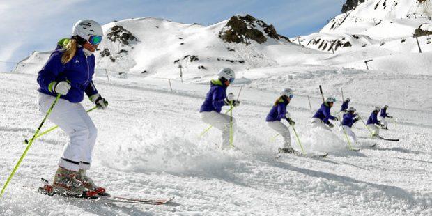 1ste Europees kampioenschap formatie skiën in Samnaun