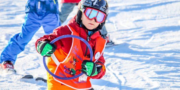Weinig sneeuw maar perfecte om te leren skiën