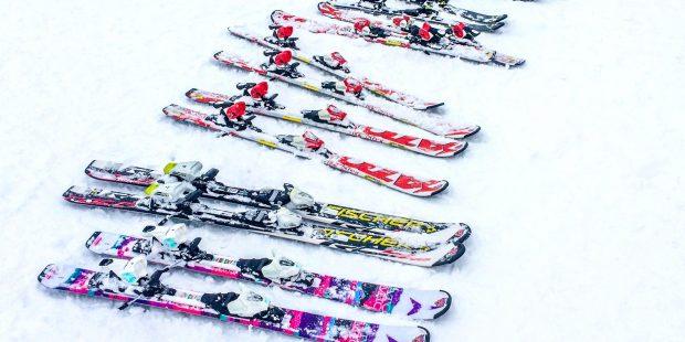 Plaksneeuw tijdens de skiles