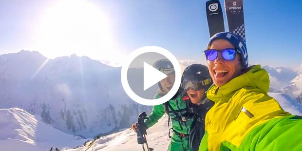 Skileraren maken heerlijke freeride-film
