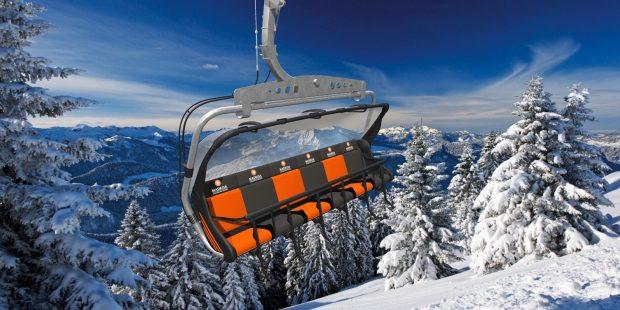 Skilift speciaal voor kleine kinderen en gehandicapte