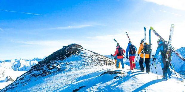 Tom leerde verantwoord off-piste skiën tijdens de Alpinkurs