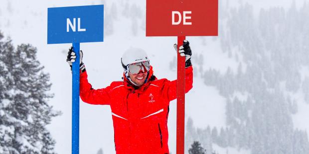 Het Nederlands-Duits van snowboard- en skileraren