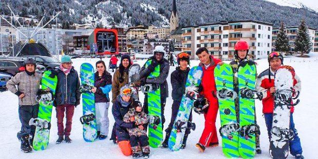 Snowboardschool voor vluchtelingen