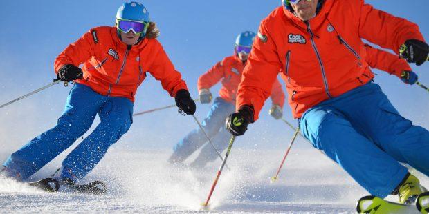 Skileraren van Cool Movements naar EK formatieskiën in Samnaun