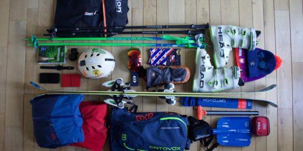Het aanschaffen van nieuw materiaal, met vandaag de ski's